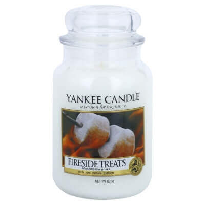 YANKEE CANDLE DUŻA FIRESIDE TREATS (odbarwiona)
