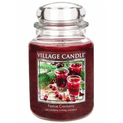 VILLAGE CANDLE WOSK FESTIVE CRANBERRY