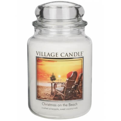 Village candle Christmas on the beach